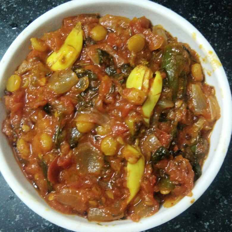 Photo of Menthi tomato chena dal curry by Ganeprameela  at BetterButter