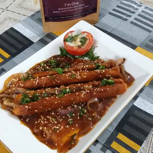 How to make Cheesy Sausages in Onion Sauce
