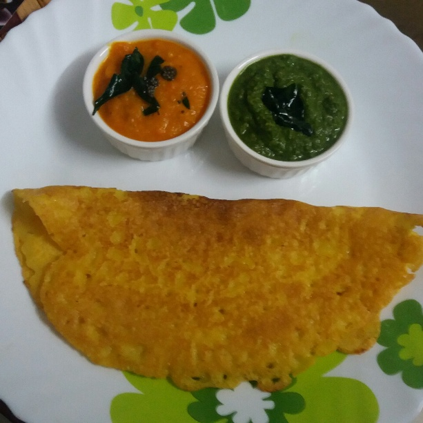 How to make Moong Daal Dosa with tomato chutney and corriander coconut chutney