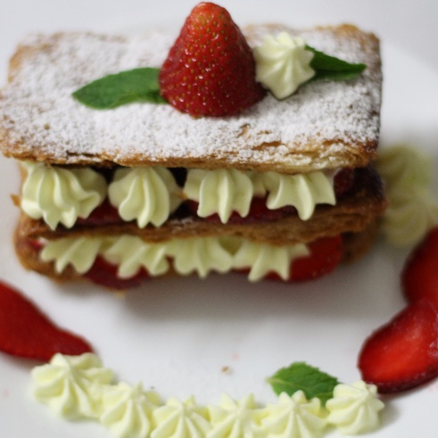Photo of Strawberry Mille Feuille(Napolean) by Garima Prabhakar at BetterButter