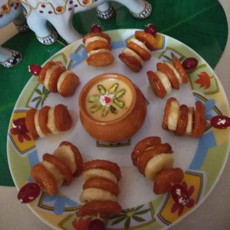 Photo of Mini indian pan cake (malpua) with rabdi dip by Garima Yadav at BetterButter