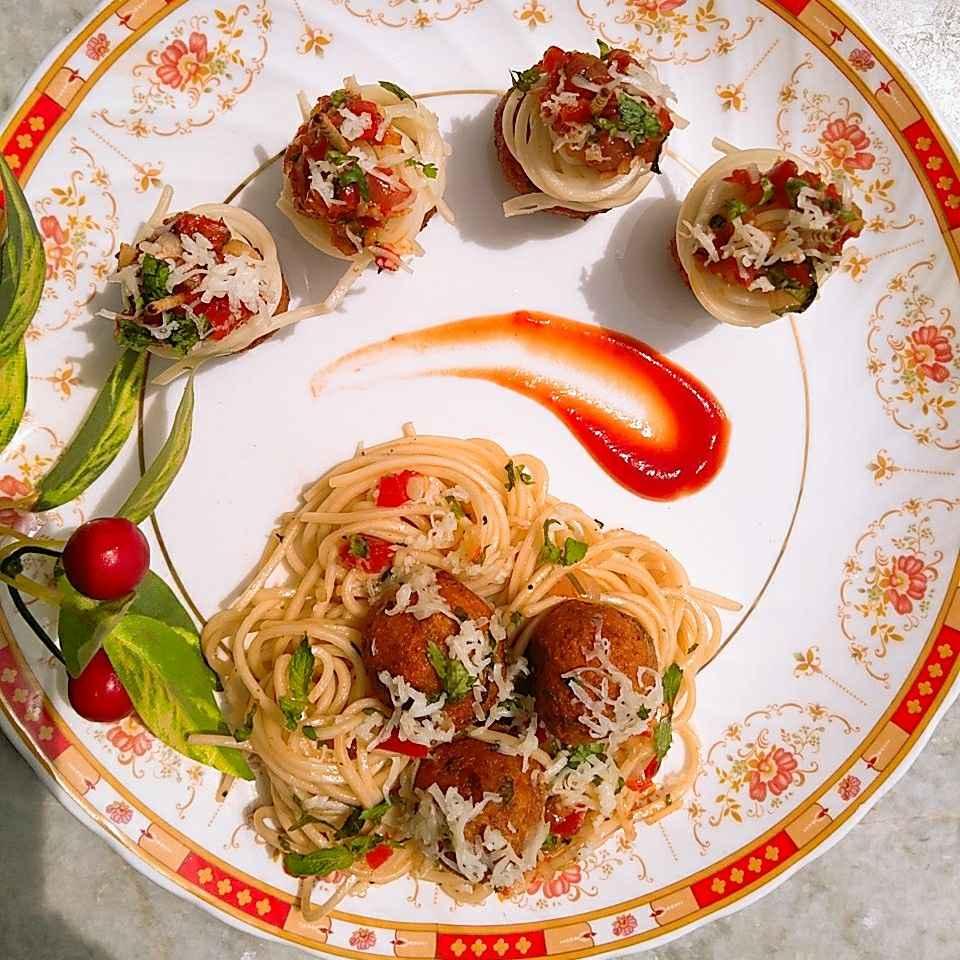 Photo of Veg meatballs with spaghetti by Garima Yadav at BetterButter