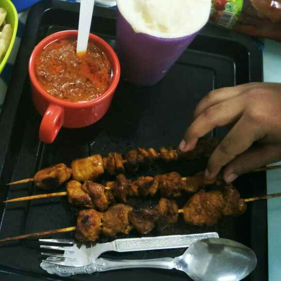 How to make Chicken satay with peanut sauce Dip