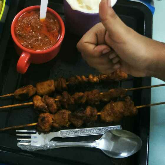 Photo of Chicken satay with peanut sauce Dip by Gayathri Gopinath at BetterButter