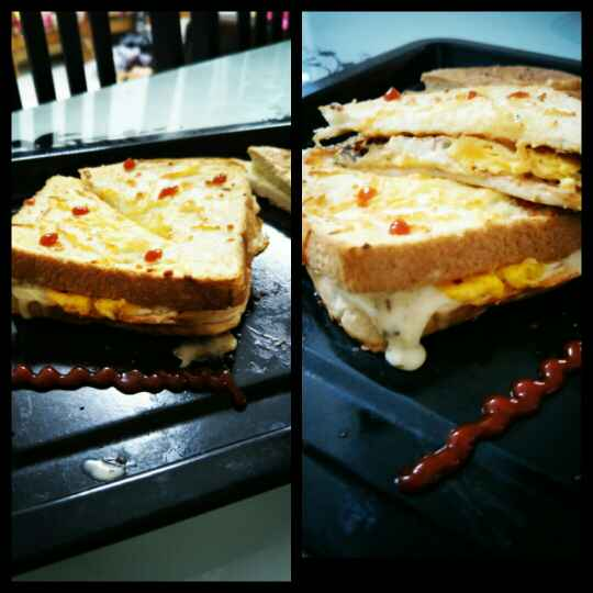 Photo of Egg cheese sandwich by Gayathri Gopinath at BetterButter
