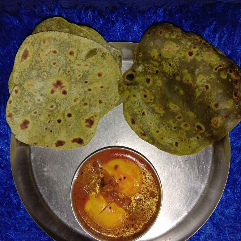 Photo of Palak pulka by Gayathri Srinivas at BetterButter