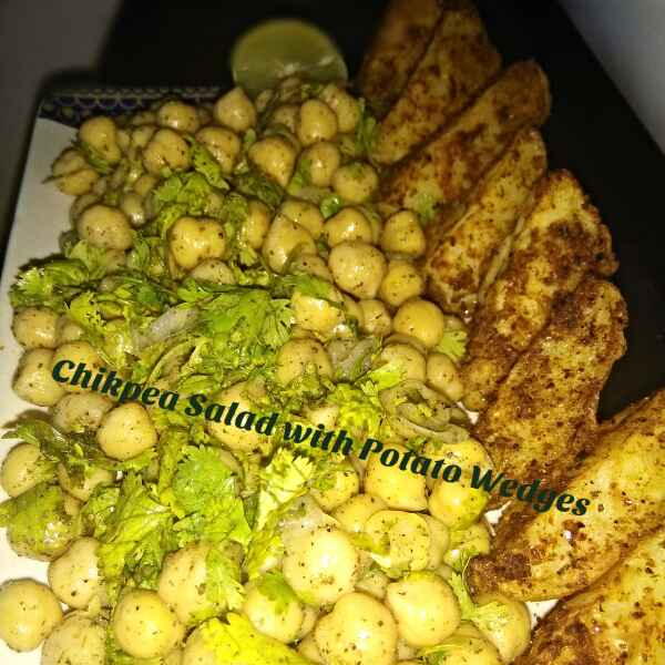 How to make Chikpea Salad with Potato Wedges