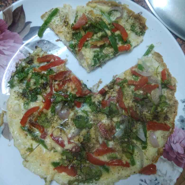 How to make Omelette Pizza