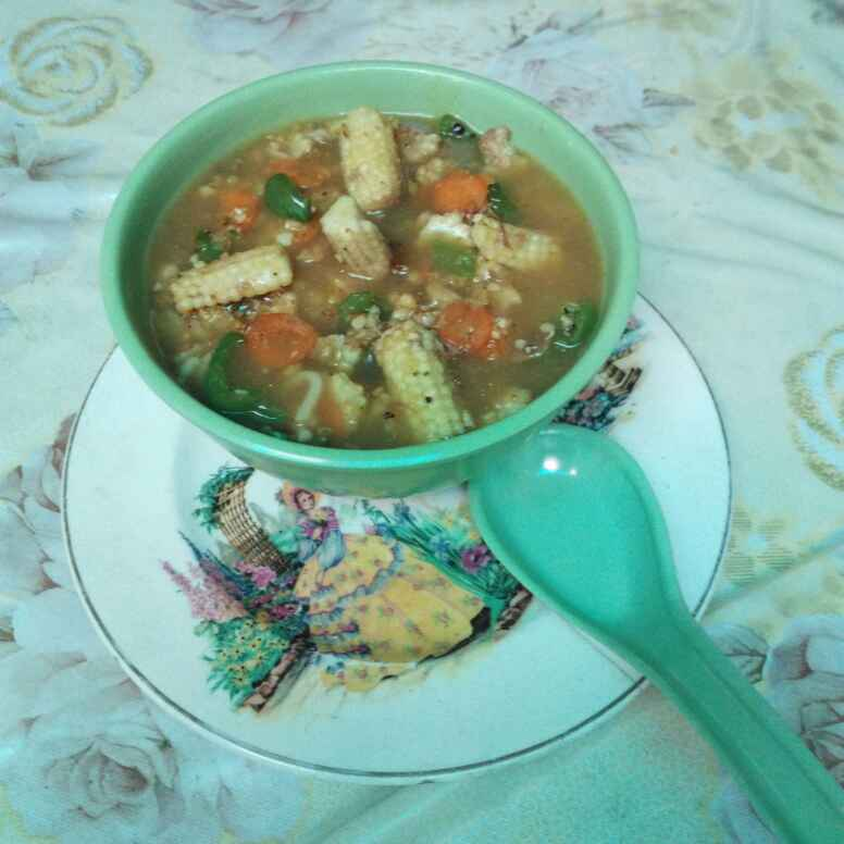 Photo of Veggie soup by Geeta Biswas at BetterButter