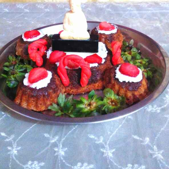 Photo of Strawberry dessert (Egg less) by Geeta Biswas at BetterButter