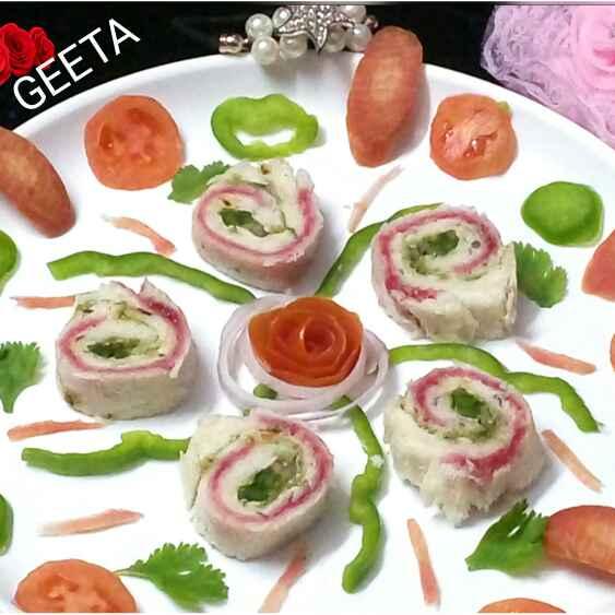 Photo of Jam Mayo Pinwheel Sandwich by Geeta Gambhir at BetterButter
