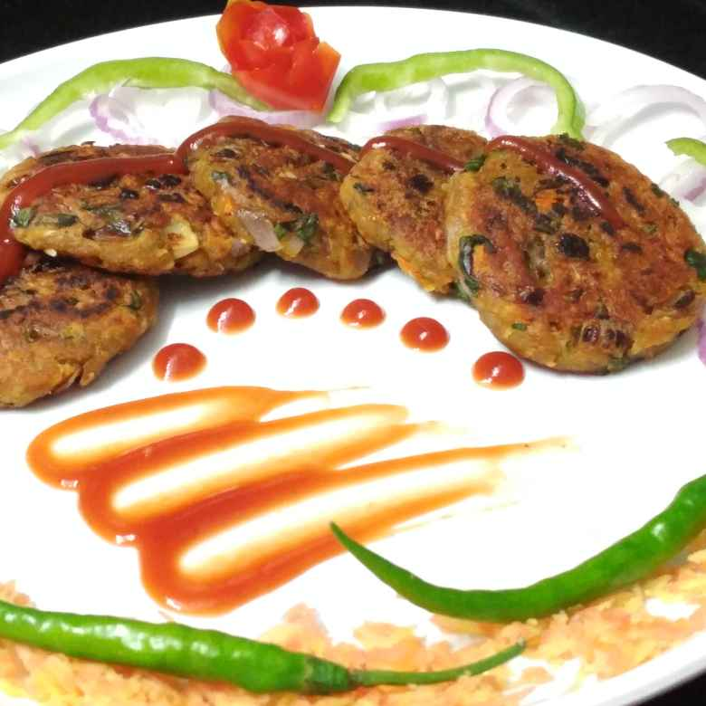 How to make Spinach Peas cutlet