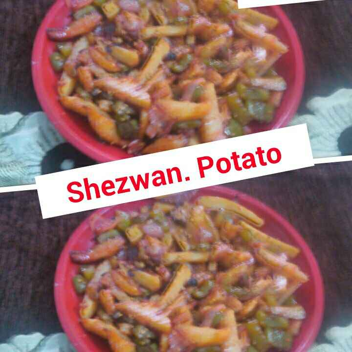 How to make Shezwan Potato /   Honey Chilly Potato