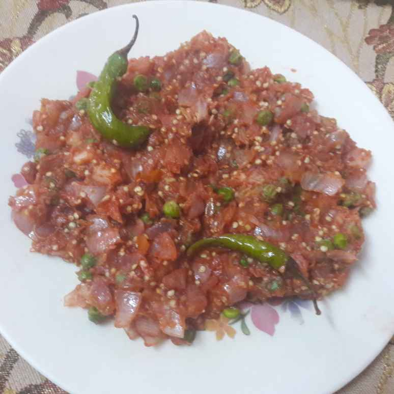 How to make Baingan bharta with green peas..