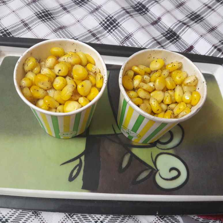 Photo of P V R soecial butter paper corn chat by Geeta Khurana at BetterButter