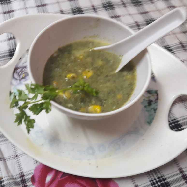 How to make Corn Spinach Soup