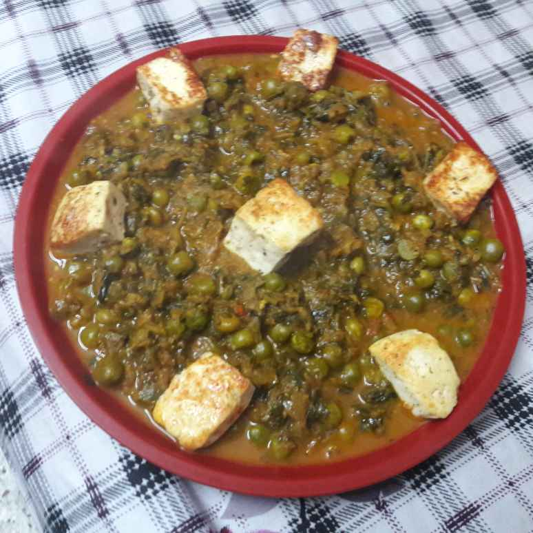 How to make Methi matar paneer