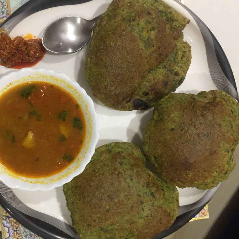 Photo of Spinach puri by Geeta Khurana at BetterButter