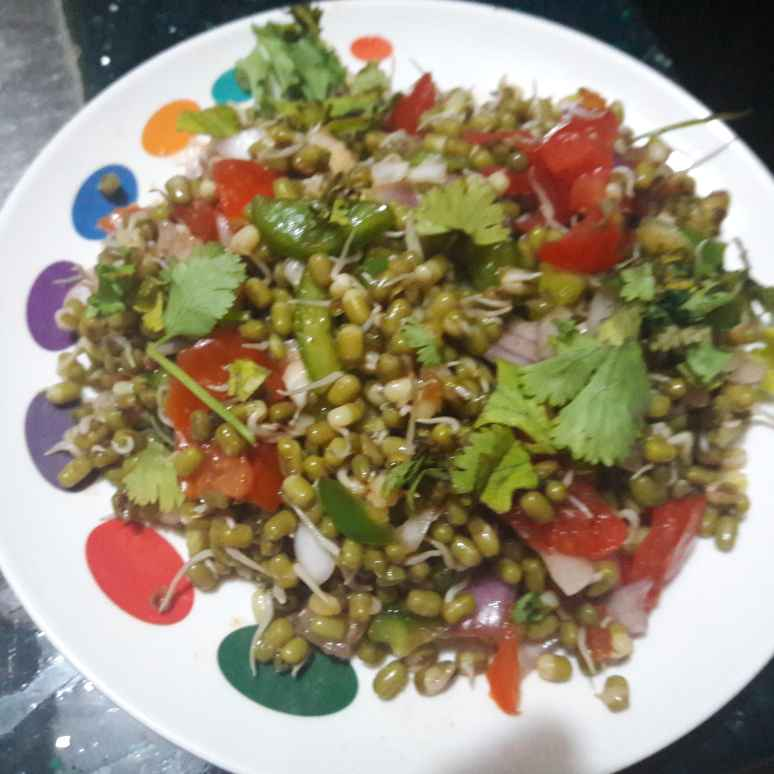 Photo of Moong sprout salad by Geeta Khurana at BetterButter