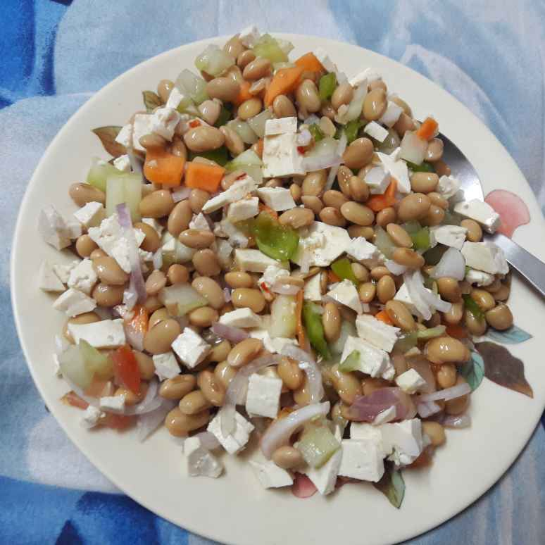 How to make Soyabean tofu salad