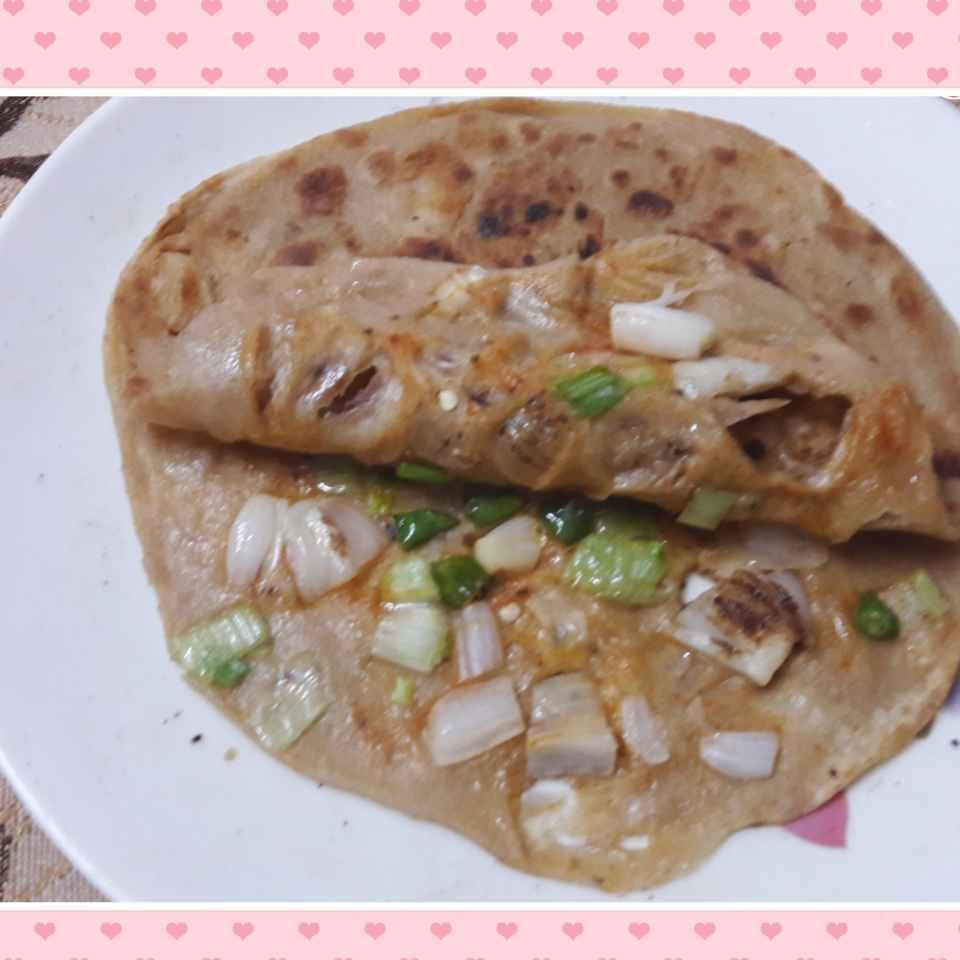 How to make Green onion.n green garlic Parantha.