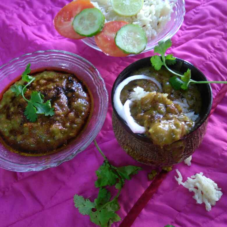 How to make Whole Green Moong Dal With Jeera Rice