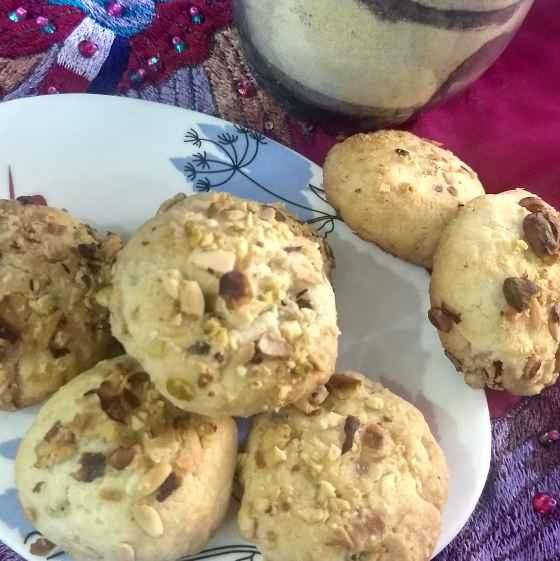How to make मेवा कुकीज