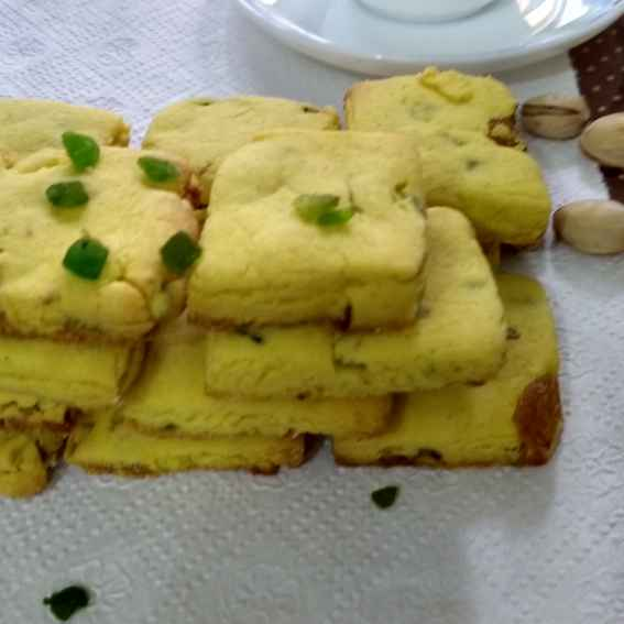 Photo of Kesar pista flavourd tutti frutti biscuits by Geeta Sachdev at BetterButter
