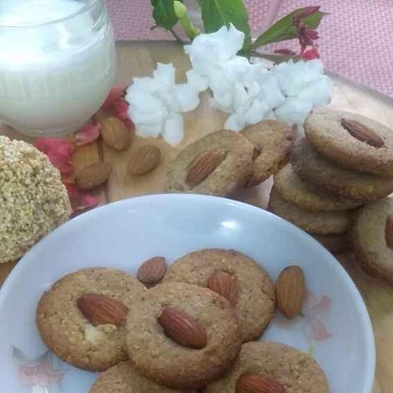 Photo of Amarnath/Rajgira Almonds Cookies by Geeta Sachdev at BetterButter