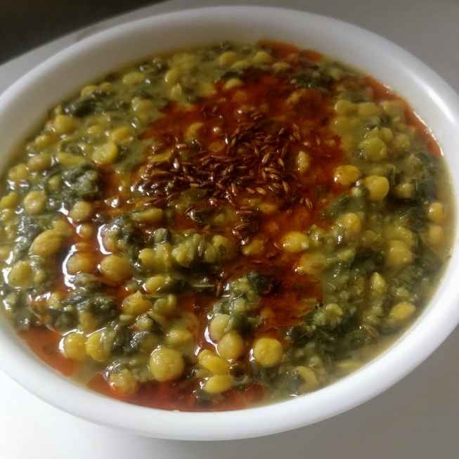 How to make Amaranth leaves with chana daal