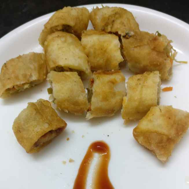 Photo of Spring rolls made with left over mixed vegetable by Geeta Virmani at BetterButter