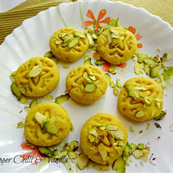 Photo of Mawa peda /Khoya Peda /Kesar Mawa Peda by Gloria Fernandes at BetterButter