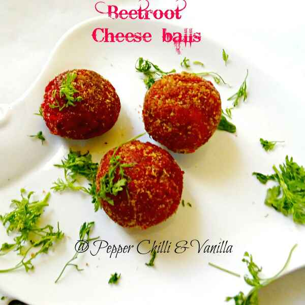 How to make Beetroot Cheese Balls