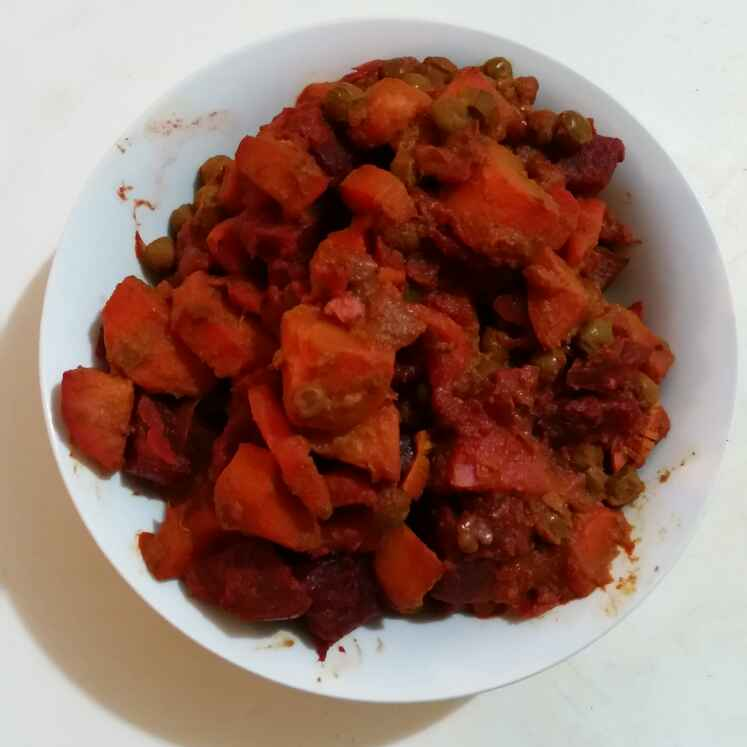 Photo of Beetroot curry by Godhuli Mukherjee at BetterButter