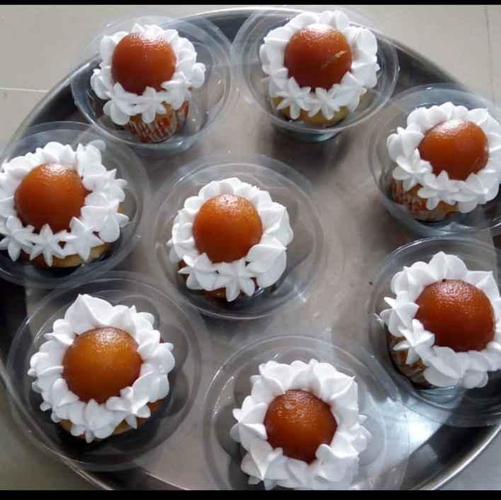 How to make ગુલાબજાંબુ કપકેક