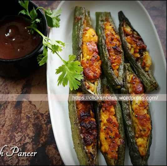 How to make Stuffed Bhindi/Ladies finger with Paneer