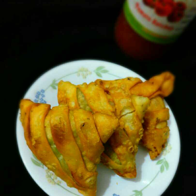 Photo of Wrapped samose by Shaheda Tabish at BetterButter