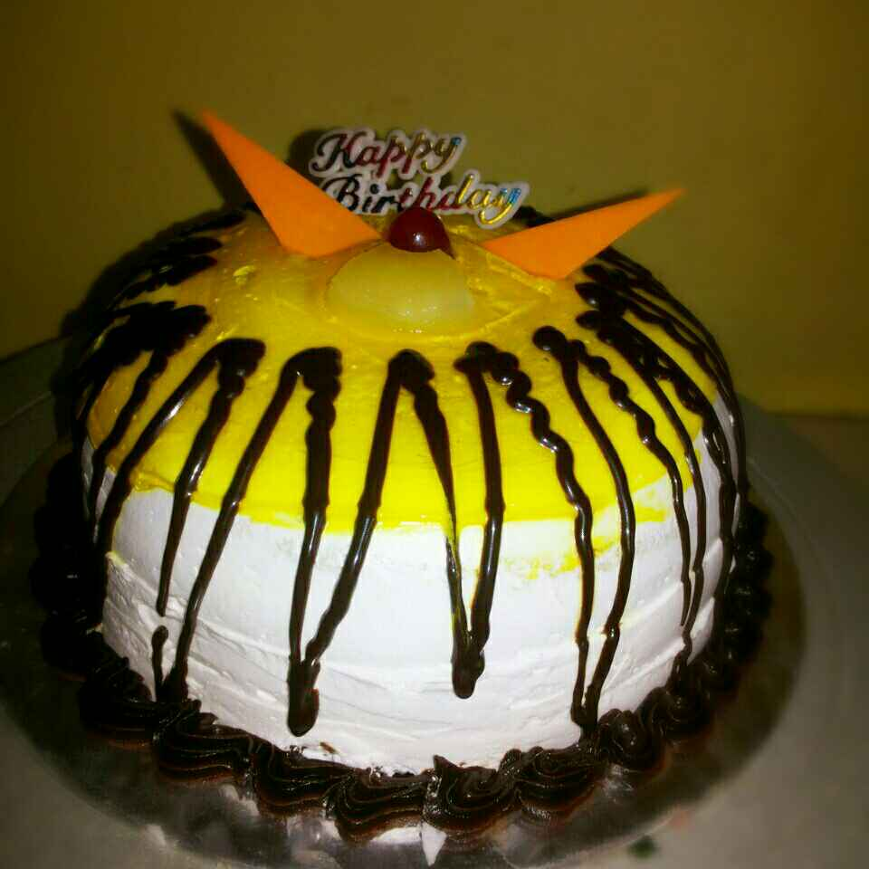 Photo of Pineapple glaze cake (eggless) by Shaheda Tabish at BetterButter