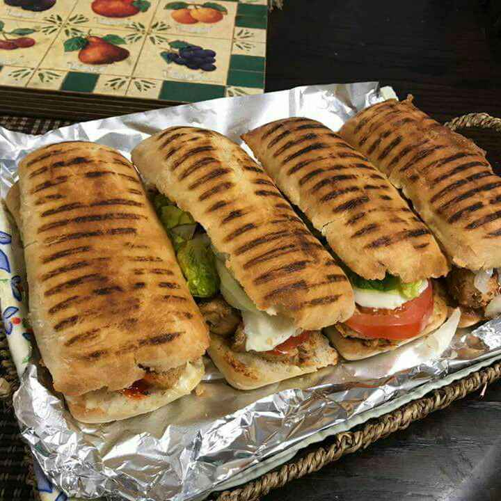 Photo of Panini roll chicken with salad dressing by Shaheda Tabish at BetterButter