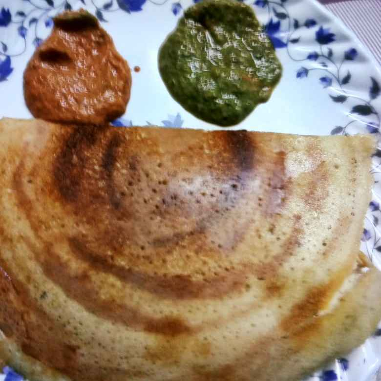 Photo of Two colours chutny &millet dosai by hajirasheed haroon at BetterButter