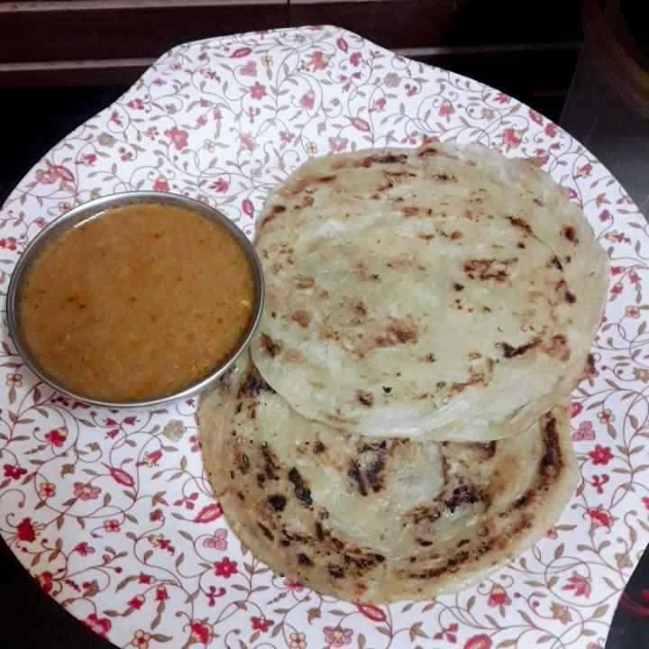 Photo of Coconut milk parotta/coconut  kurma by hajirasheed haroon at BetterButter
