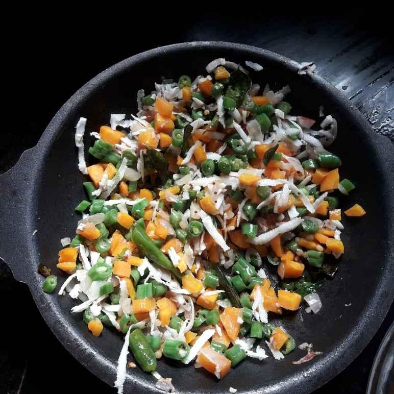 Photo of Coconut mix carrot beans poriyal by hajirasheed haroon at BetterButter