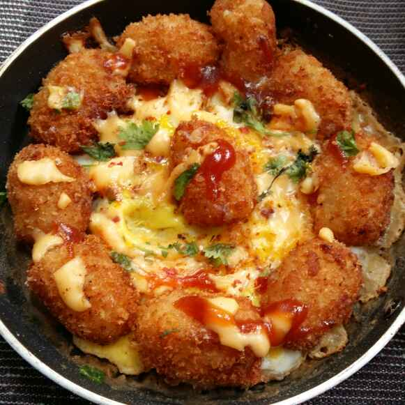 How to make Baked Tater Tots Breakfast Skillet