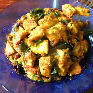 How to make YAM FRY WITH METHI LEAVES