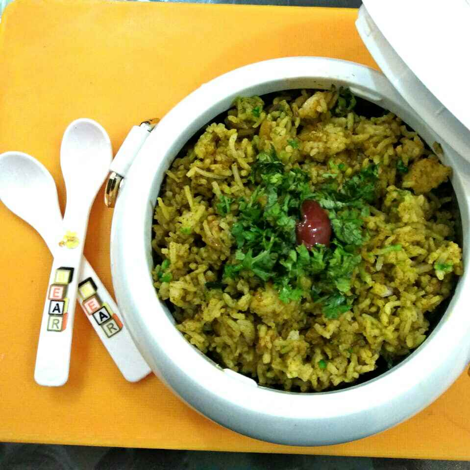 How to make Palak Pulav With Gravy
