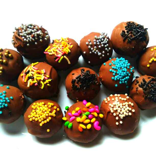 Photo of chocolate colouring laddoo by Harsha Israni at BetterButter