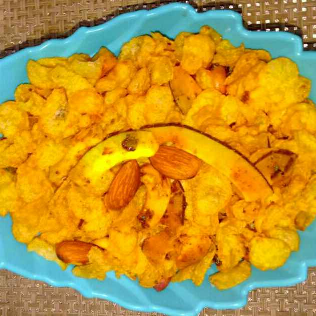 How to make Cornflakes chiwda
