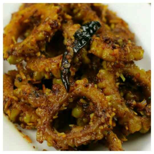 Photo of Khatta Mittha Stir fried karela/ Bitter Gourd by Ankita (Harshita) Tahilramani at BetterButter