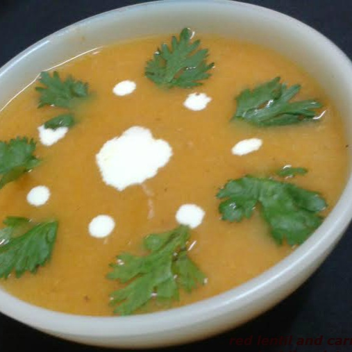How to make Red lentil and carrot soup