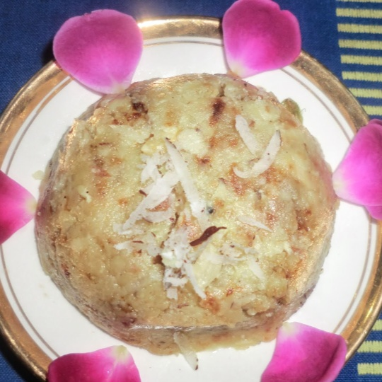 Photo of Potato halwa with fresh coconut by Hem Lata Srivastava at BetterButter